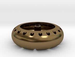 Pinewood Derby Wheel in Polished Bronze
