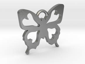 Butterfly Pendant in Natural Silver