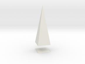 Pyramis Laterata Quadrangula Solida in White Strong & Flexible