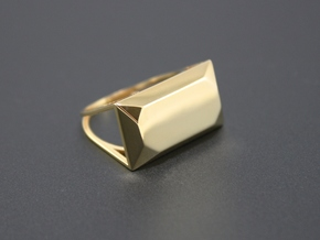 Emerald Top Ring - US Size 08 in 18k Gold Plated Brass