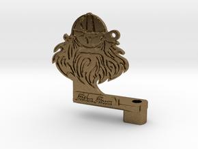 Viking tattoo machine frame in Raw Bronze