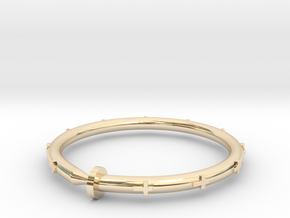 Cross Nail Bracelet in 14K Yellow Gold