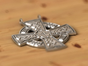 Adair pendant in Fine Detail Polished Silver