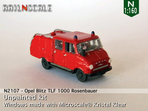 Opel Blitz TLF 1000 (N 1:160) in Smooth Fine Detail Plastic