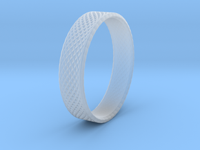 0099 Lissajous Figure Ring (Size9, 19.0mm) #001 in Smooth Fine Detail Plastic