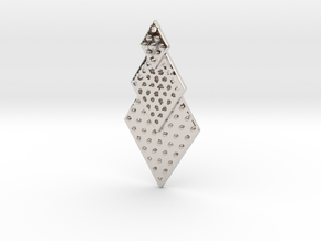 Post Earrings in Rhodium Plated Brass