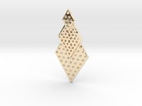Post Earrings in 14k Gold Plated Brass