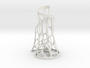 The Vase  in White Natural Versatile Plastic