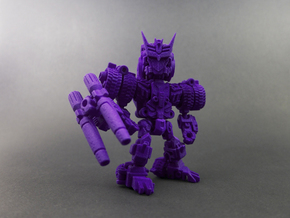 "Minibot ""Doomface"" in Purple Strong & Flexible Polished"