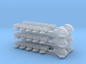 GWR ATC Brackets - 3 sets in Smooth Fine Detail Plastic