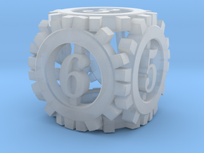Steampunk Gear d6 in Smooth Fine Detail Plastic