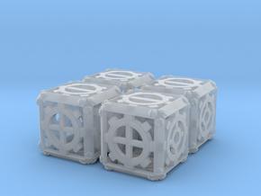 Steampunk d6 Fudge 4d6 Set in Smooth Fine Detail Plastic