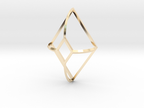 Cut-Off Diamond Curved in 14K Yellow Gold