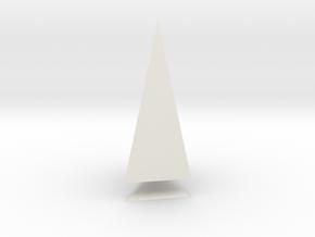 Pyramis Laterata Triangula Inequilatera Solida in White Natural Versatile Plastic