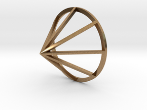 Lined Cone in Natural Brass