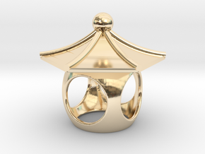 Spirit House - Curious in 14k Gold Plated Brass