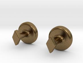 Yin Yang Cuff Links - Small in Natural Bronze