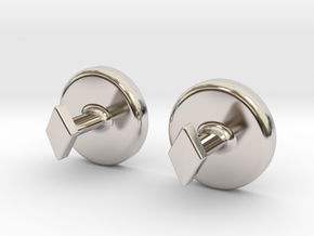 Yinyang Cuff Links - Large in Platinum