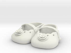 Baby Shower Decorations - Baby Shoes  in White Natural Versatile Plastic