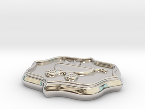Baby Shower Decorations - Baby Buggy - One Color in Rhodium Plated Brass