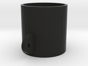 52mm Gauge Cup in Black Natural Versatile Plastic