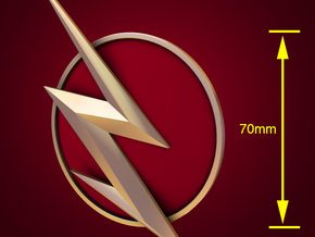 The Flash - Right Ear Bolt (TV Flash) -70mm in White Natural Versatile Plastic