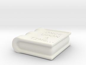 Book Pendant in White Natural Versatile Plastic