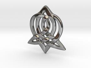 Celtic Sister Pendant in Fine Detail Polished Silver