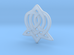 Celtic Sister Pendant in Smooth Fine Detail Plastic