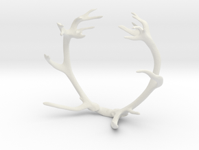 Red Deer Antler Bracelet in White Natural Versatile Plastic