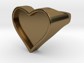 Heart in Polished Bronze