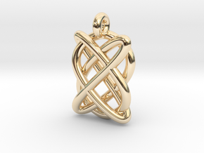 Lissajous figure in 14k Gold Plated Brass