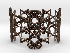 Deco Pattern Cuff in Polished Bronze Steel