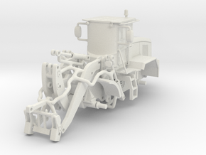 1/64 Small wheel loader- short reach in White Strong & Flexible