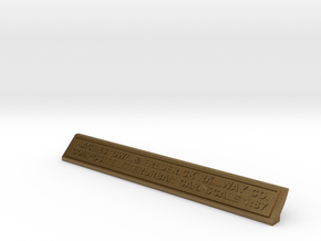 Base Nameplate HO H&F in Natural Bronze