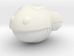 Have A Nice Day - Smiley Space Ship Bead 001 in White Natural Versatile Plastic