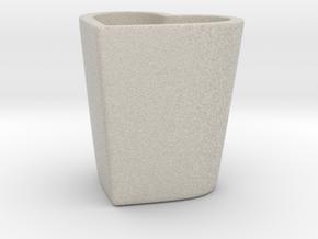 Espresso Heart Cup in Natural Sandstone