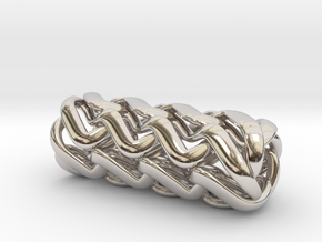 Tubulos - 40mm in Rhodium Plated Brass