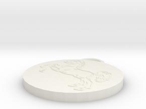 Pendant Horse Full in White Natural Versatile Plastic