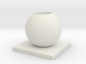 Vase 9 in White Natural Versatile Plastic