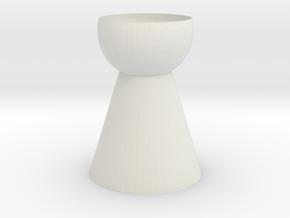 Vase 12 in White Natural Versatile Plastic