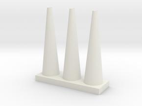 Vase 15 in White Natural Versatile Plastic