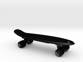 Mini Penny Board - 3D Printed in Stainless Steel in Matte Black Steel