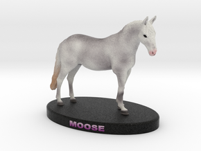 Custom Horse Figurine - Moose in Full Color Sandstone