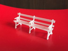O scale station seats  (x2) in Smooth Fine Detail Plastic