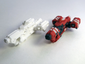 Miniature of Red Ship from Space Engineers game in White Strong & Flexible