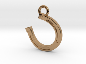 Lucky Horseshoe in Polished Brass