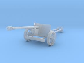 1/100 15mm scale Pak40 german anti tank gun WW2 in Smooth Fine Detail Plastic
