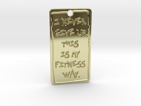 my fitness way in 18k Gold Plated Brass