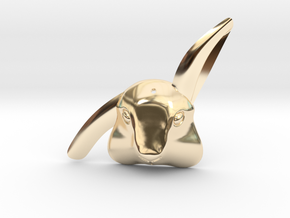 Bibo - rabbit pendant in 14k Gold Plated Brass